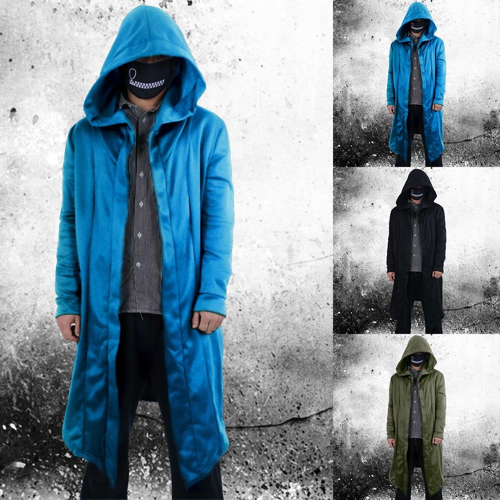 Rrive Mens Casual Gothic Hooded Hip Hop Cloak Open Front Sweatshirt Jackets