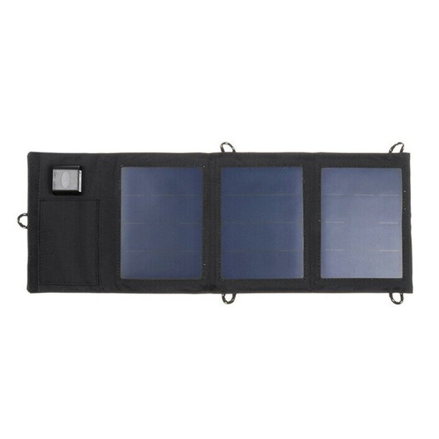 20W Dual USB Solar Panel Foldable Power Bank Panel Camping Hiking Phone Charger Charger Panel Power Pack 1