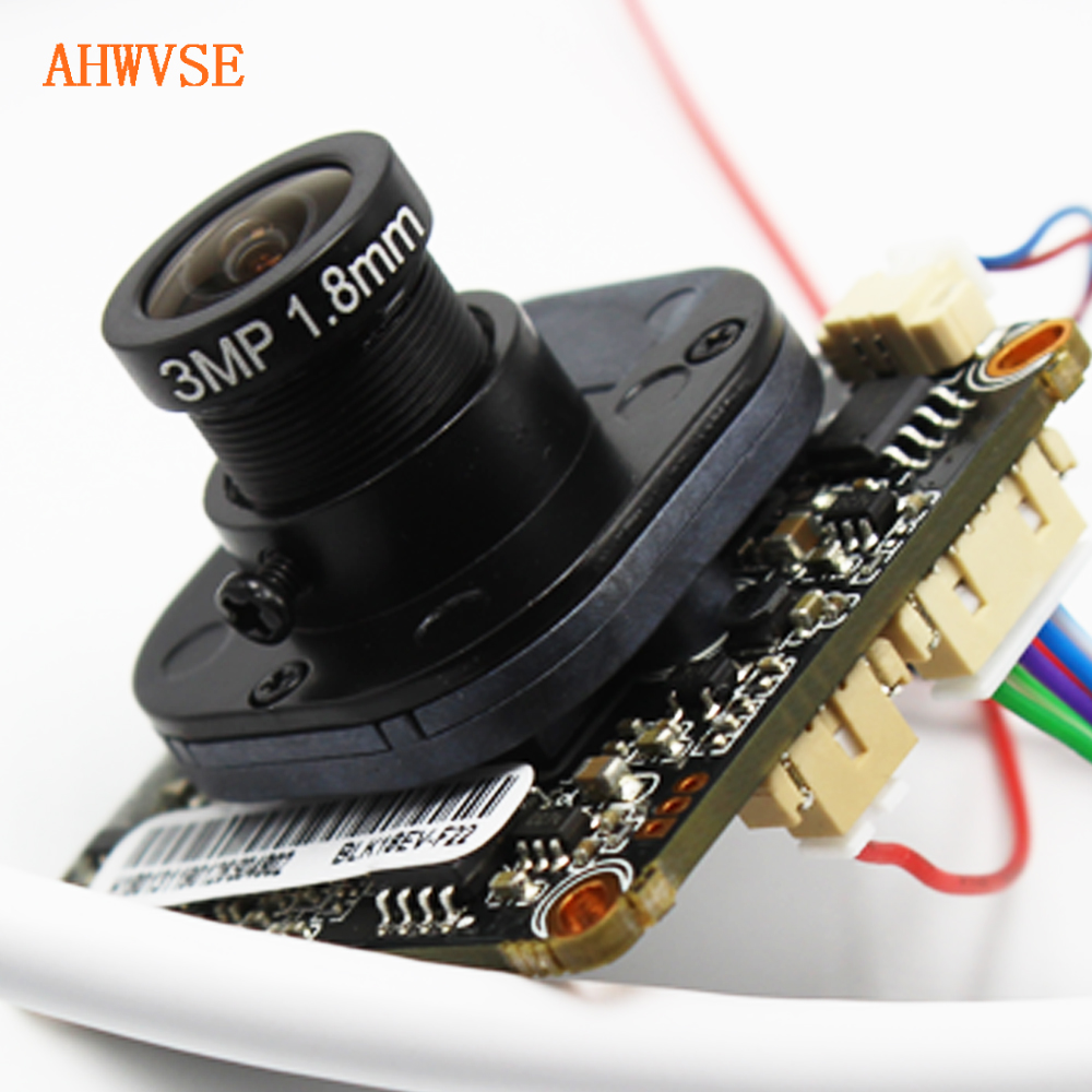 AHWVSE 1.8mm IP Camera Module Board with <font><b>M12</b></font> Lens 2.8-12mm Panorama 2MP 1080P 1920*1080 Network ONVIF CMS XMeye app image