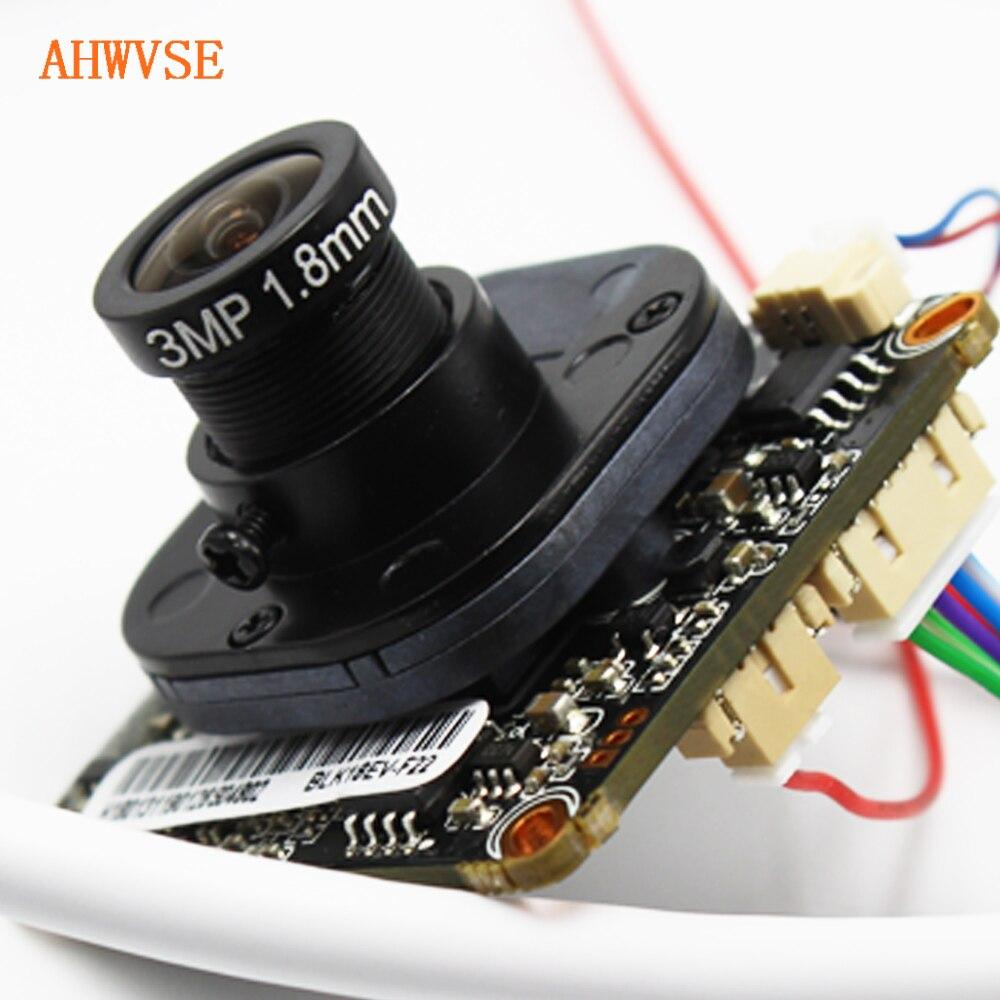 AHWVSE 1.8mm Fisheye IP Camera Module Board 1080P 720P IP Cam XMEye ONVIF P2P Motion Detection App