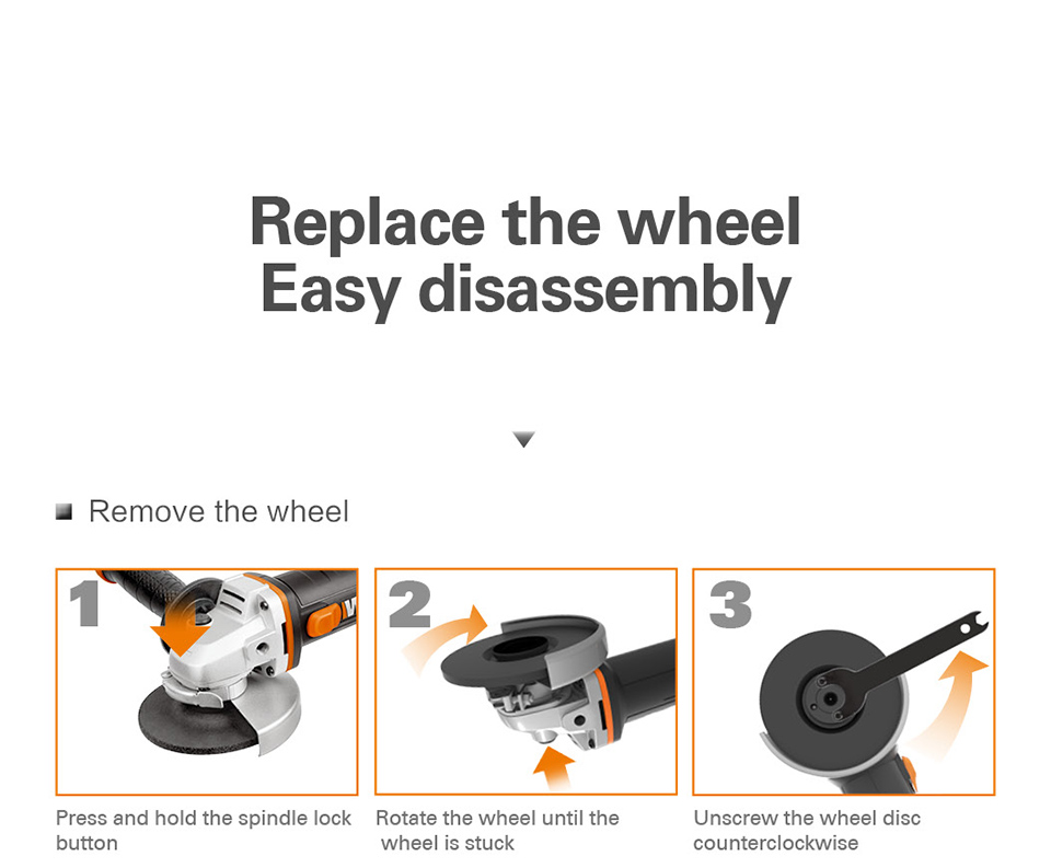 Replace the wheel Worx