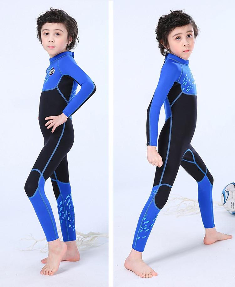 Slinx para meninos manga longa 2.5mm neoprene