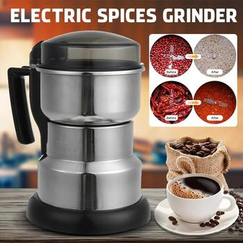 400W 220V Grains Spices Hebal Cereal Coffee Dry Food Grinder Mill Grinding Machine Gristmill Home Medicine Flour Powder Crusher image