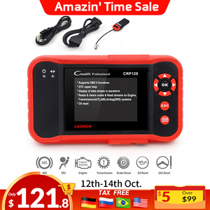 LAUNCH OBD2 Scanner CRP123 - Engine/ABS/SRS/Transmission Code Reader Car Diagnostic Scan Tool,4 in 1 Live Data Stream Graph