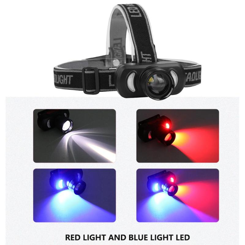 Headlamp Bicycle-Lights Camping-Headlight Rechargeable Blue Led Usb Red Delicate-Design title=