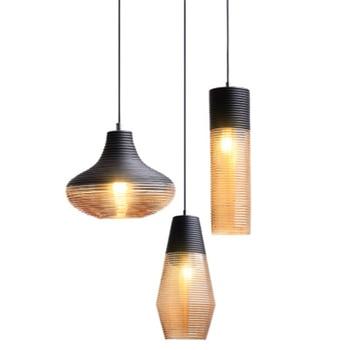 Nordic Restaurant Light Modern Simple Creative Art Coffee House Lamp Bar Single Head Free Shipping LED Bulbs Metal AC