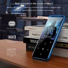 Novo walkman de áudio portátil esporte bluetooth mp3 player metal mini com 1.8 Polegada suporte tela fm bluetooth 5.0 botão luz traseira