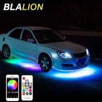 Kit de luces Led de neón para coche, Kit de luces Led de ambiente Interior, lámpara RGB de Color, Control por aplicación remota, sistema de luz de neón