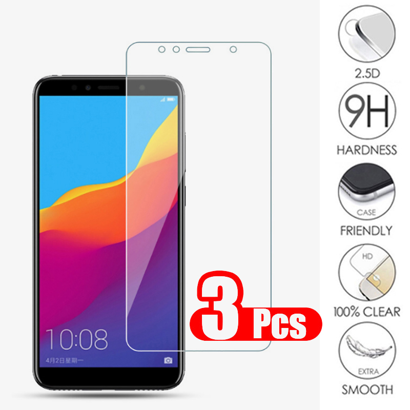 3Pcs Glass For Huawei Honor 7A 7C 7X Tempered Glass For Ru Honor 7A 7C Pro Screen Protector Honor7A Honor7 A C X Protective Film