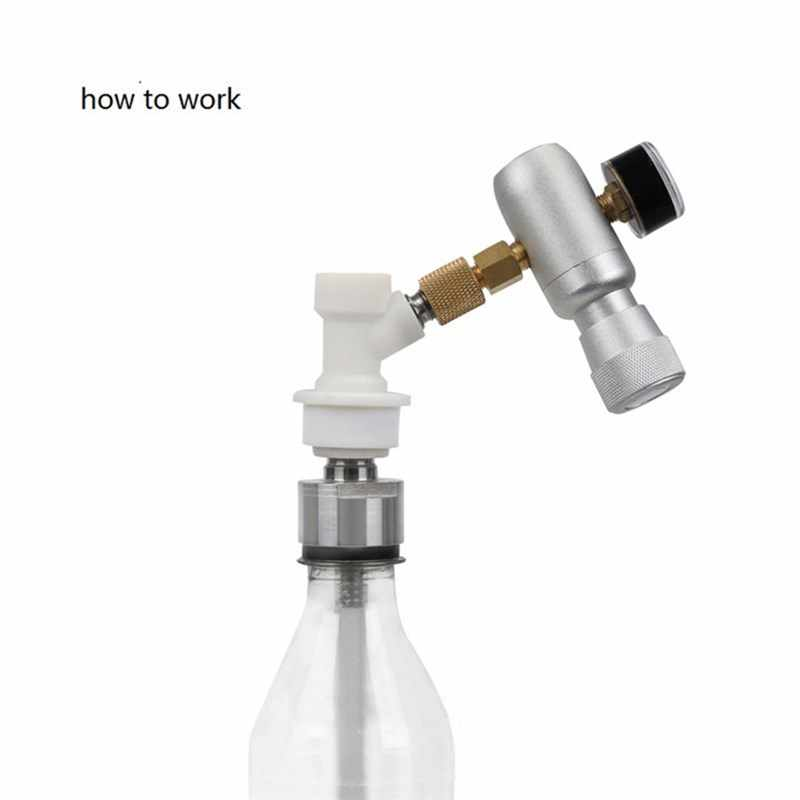 "VOGVIGO Home Brewing Beer Carbonation Cap 5/16"" Barb Ball Lock CO2 Water Juice Carbonator for Plastic Bottles Ball Connectors"