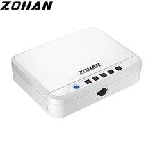 ZOHAN-caja de seguridad Digital con huella dactilar, cierre inteligente para pistola, depósito de dinero a prueba de fuego, caja de seguridad electrónica