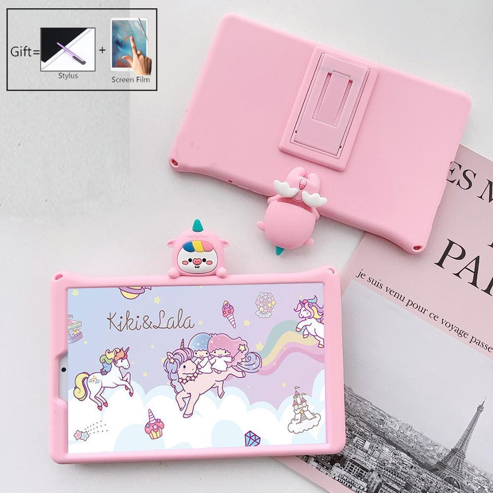 Case For Huawei MediaPad T3 10 AGS-W09/L09/L03 9.6 Inch Kids Cartoon Unicorn Soft Silicone Tablet Protective Stand Cover Funda