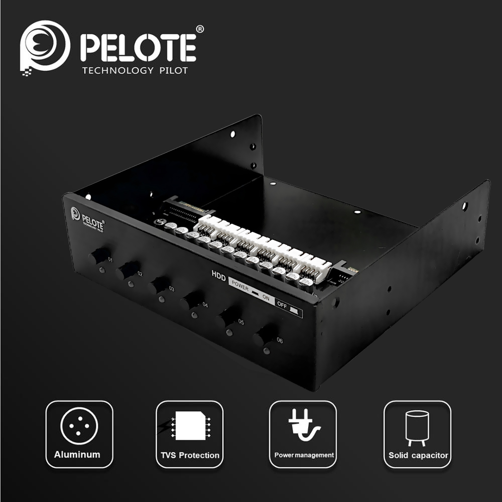 PELOTE HD-PW6101  Hard Drive Selector Sata Drive Switcher HDD Power Switch Control  For Desktop PC Computer CD-ROM Slot Space