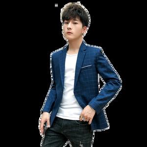 Image 2 - החדש Slim Fit מקרית בלייזר מעיל יחיד כפתור Mens חליפת מעיל סתיו משובץ מעיל זכר חבילת M 3XL drop חינם