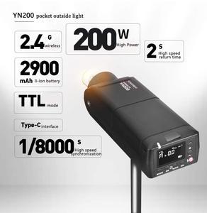 Image 3 - 永諾 YN200 TTL HSS 2.4 グラム 200 ワットのリチウム電池 Usb タイプ C 、互換 YN560 TX (II) /YN560 TX プロ/YN862 用