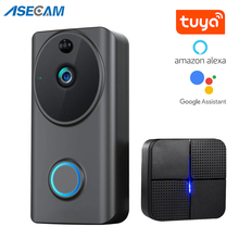Alexa Video kapı zili 1080P Wifi akıllı ev telefon görüşmesi ses interkom beyaz siyah kablosuz Google kapı zili kamera