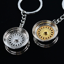 Car Wheel Modified Key Chain Silver & Golden BBS Ring Pendant Auto Part Accessories Personality