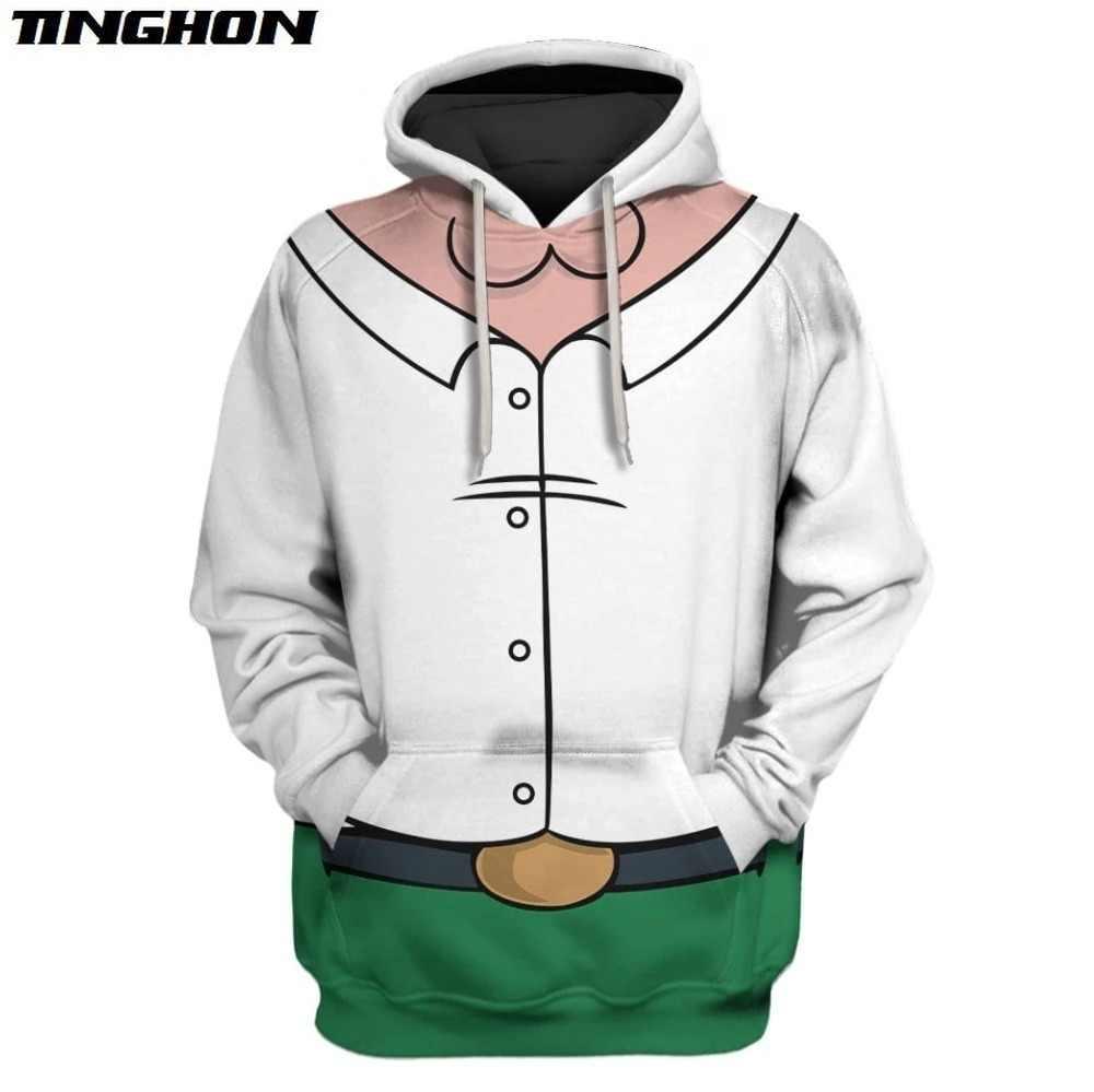 Mode Männer Hoodies cartoon Familie Guy Gedruckt 3d Sweatshirt Hoodie Cosplay kostüm Unisex Streetwear XS-7XL