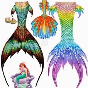 2020 Горячая Большая хвост русалки дети взрослые женщины мужчины хвост русалки с/нет Флиппер пляжные костюмы купальники русалки