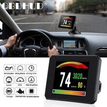 WiiYii P16 HUD 자동차 수온 디지털 디스플레이 연료 소비 HUD 디스플레이 속도 프로젝터 OBD 게이지