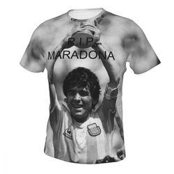 Diego MARADONA Men's Big Tall Performance Cotton Short-Sleeve T-Shirt Fit