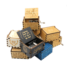 HOT 30 style Antique Carved Wood Game Of Thrones Star wars Music Box Hand Crank Theme Birthday gift,Christmas gift