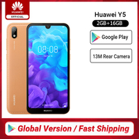 Global Version Huawei Y5 2019 Smartphone Mediatek MT6761 2G 16G 5.71'' 13M Rear Cam 3020mAh Mobile Phones Android 9 Google Play
