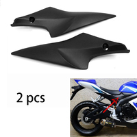 2 Piece Motorcycle Fuel Tank Side Cover Panel Fairing Frame Trim Cowl Case Plastic Kit For SUZUKI GSXR GSX R 600 750 2006 2007