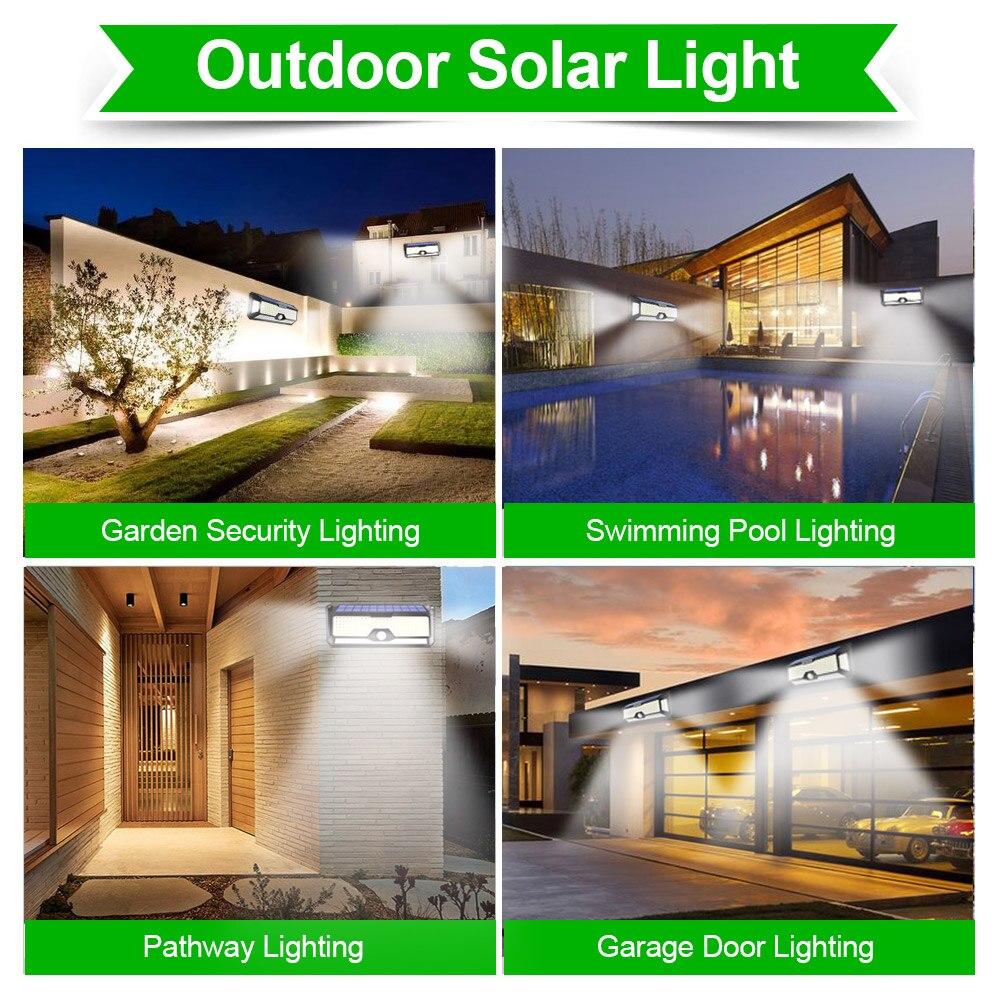 Super brilhante 268 led solar sensor de