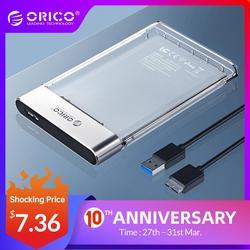 Чехол ORICO для жесткого диска, новинка, 2,5 дюймов, прозрачный, добавить Металл SATA в USB 3,0, чехол для жесткого диска, без инструментов, 6 Гбит/с, под...
