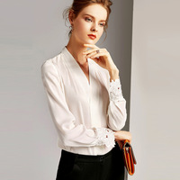 Women's Shirt Spring Autumn Silk Blouse 2020 White Shirts Womens Tops and Blouses Office Vintage Blouse Camisas Mujer MY2354