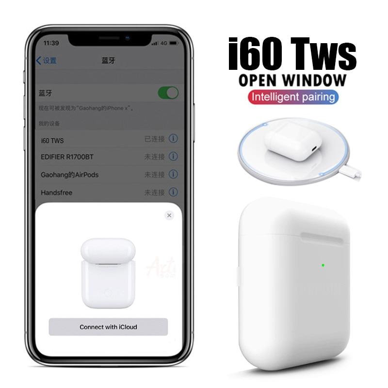 i60 TWS Bluetooth 5.0 Headphones Wireless Sports Headset Touch Earphones pk i11 i12 i7s i20  i30 i200 i500 i1000 i2000