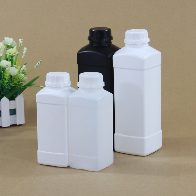 Empty Refillable Plastic Bottle Square Cosmetic Container Shampoo,Lition,Liquid Packaging Bottles With Lid