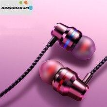 HONGBIAO SM умные стерео наушники 18D гарнитура металлическая Проводная супер бас 3,5 мм вкладыши с микрофоном Hands Free для Xiaomi наушники
