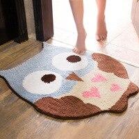 High Quality Owl Pattern Carpet Door Mat For Bathroom Living room Bedroom Anti Slip Area Rug Mat