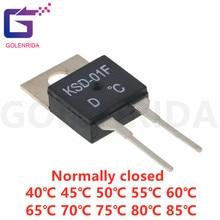 5PCS KSD-01F 40 45 50 55 60 65 70 80 85 graus normalmente fechado termostato interruptor de Controle de Temperatura PARA-220 KSD-01