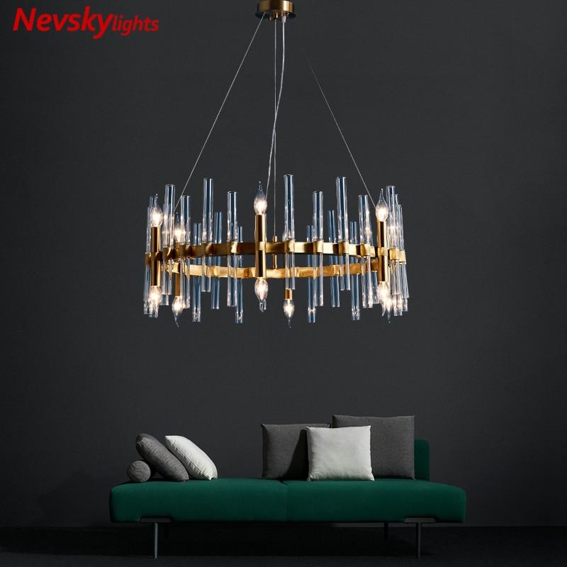 Modern lustres for living room ceiling chandelier lighting fixtures copper glass chandelier dining room minimalist chandeliers