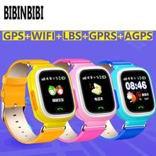 цена на New Arrival Q90 GPS Phone Positioning Fashion Children Watch 1.22 Inch Color Touch Screen kids SOS Smart Watch PK Q80 Q50 Q12