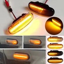 2Pcs แบบไดนามิก LED Side Marker ไฟเลี้ยวสัญญาณสำหรับ Fiat Panda 169 Van Punto Evo 199 Doblo Fiorino 225 Qubo 225 Stilo 192