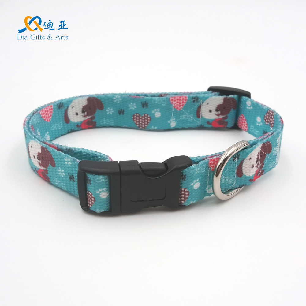 E-Commerce 11-2.0 Cm Thermal Transfer Fresh Puppy-Polyester Cotton Skin-Friendly Pet Collar Dog Collar