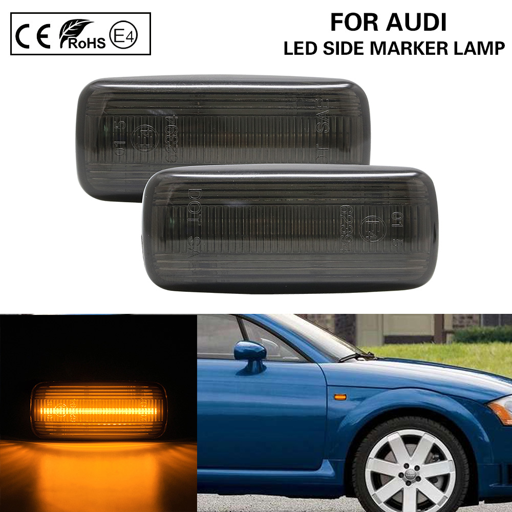 2x Audi A3 8P 18-LED Front Indicator Repeater Turn Signal Light Lamp Bulbs