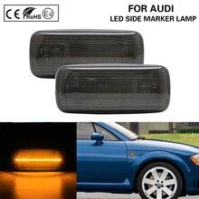 цена на 2*PCS Smoke LED Side Marker Light Lamp turn signal light Lightbar For Audi A2 A3 A4 A6 A8 TT