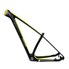 Тяговая карбоновая рама 29er 15 17 19 углеродная mtb рама 29 er BSA BB30 велосипедная Рама Максимальная нагрузка 250 кг 2 года гарантии 12 цветов