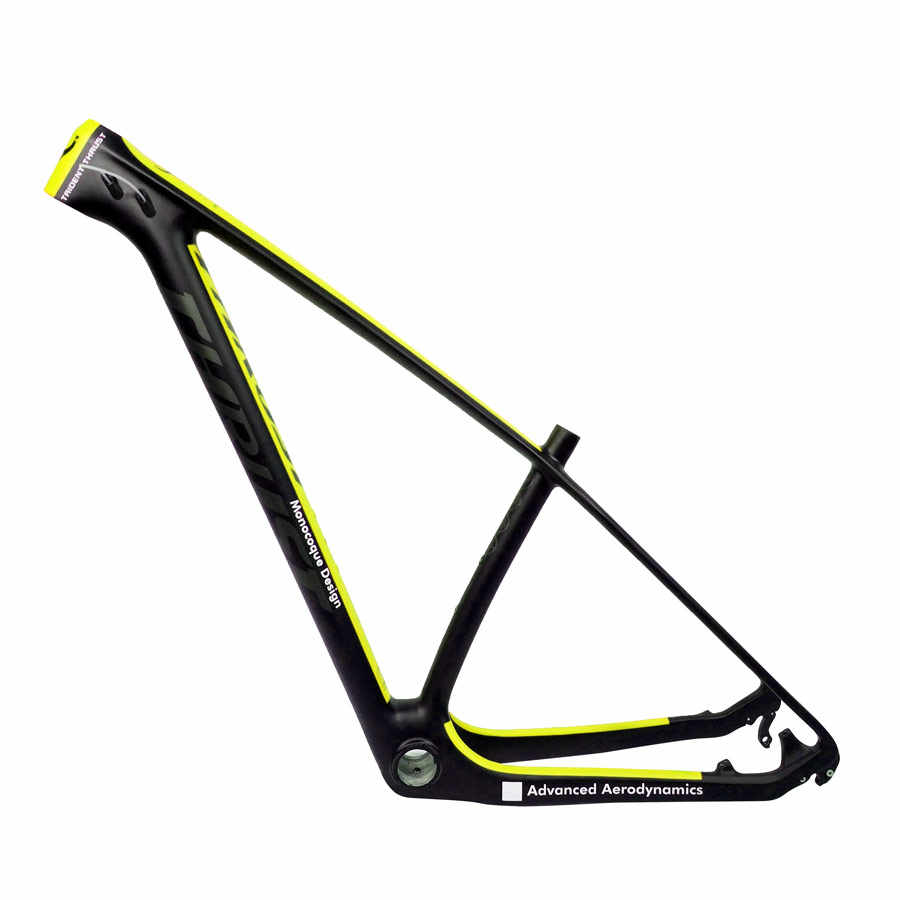 Cadre carbone de poussée 29er 15 17 19 cadre vtt carbone 29 er BSA BB30 cadre vélo charge maximale 250kg 2 ans de garantie 12 couleurs