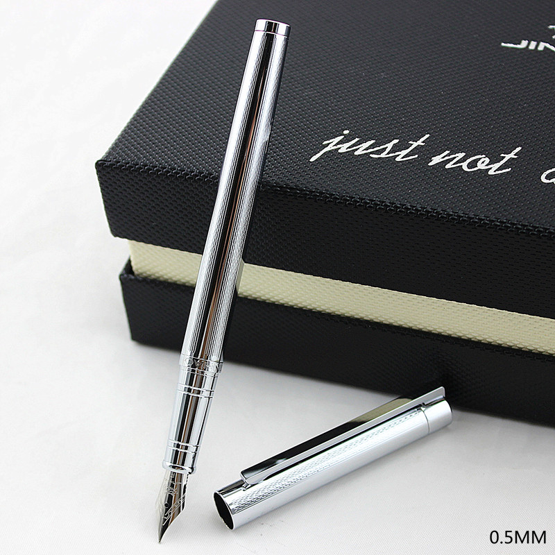 Fountain Pen 0.5 Nib Or 0.38 Mm Nib Jinhao 126 Standard Pen Office And School Stationery Metal Ink Pen Free Shipping