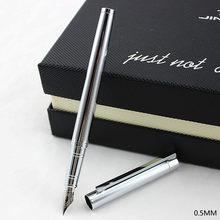 Caneta fonte 0.5 nib ou 0.38mm, caneta metálica para escritório e escola de papelaria sem tinta envio do frete