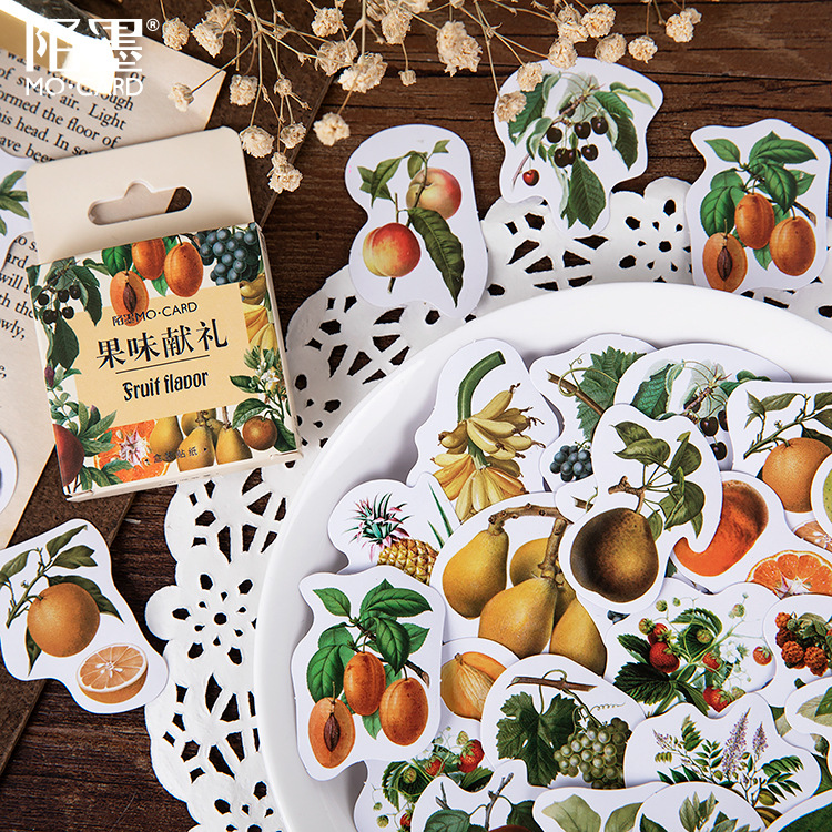 46 Pcs Fruits Collection Mini Paper Sticker Decoration Diy Ablum Diary Scrapbooking Label Sticker Kawaii Stationery