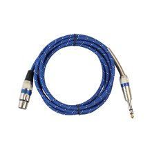 Microphone Wire Cord XLR female to Jack 6.35 mm Male Plug Cable  Multi-Device Data Transmission 3m/5m/10m/15m/20m