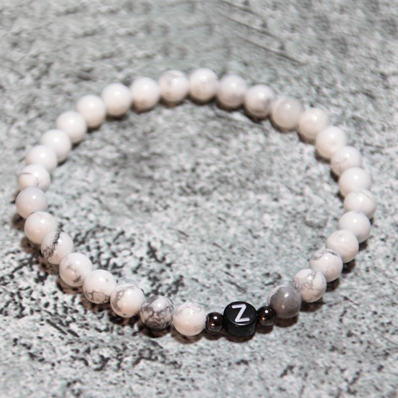 Diffone 2020 Classic Pair Bracelet Men Women Creative DIY Letter Braclet Natural Stone Beads Braslet Distance Couple Brazalete