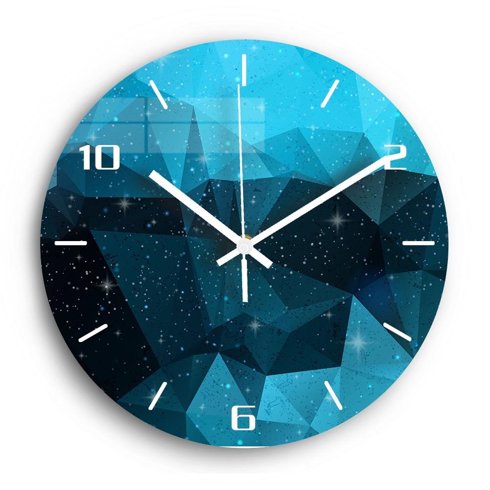 Starry Sky Decorative Digital Wall Clock Mute Clockwork Acrylic 3D DIY Wall Clock Modern Design For Kitchen Watch Home Decor